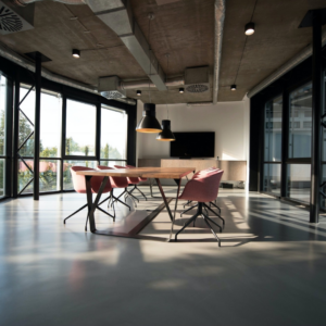 small business loans at an office